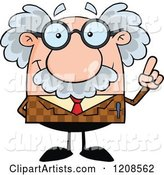 Vector Professor Clipart by Hit Toon