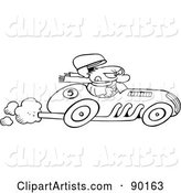 Vector Race Car Clipart by Gnurf