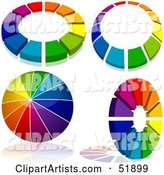 Vector Rainbow Clipart by Dero