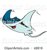 Vector Ray Fish Clipart by Dennis Holmes Designs