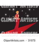 Vector Red Carpet Clipart by Eugene