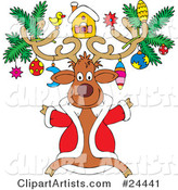 Vector Reindeer Clipart by Alex Bannykh