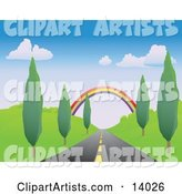 Vector Road Clipart by Rasmussen Images