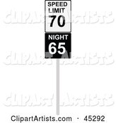 Vector Road Sign Clipart by JR