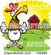 Vector Rooster Clipart by Cory Thoman