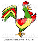 Vector Rooster Clipart by LaffToon