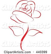 Vector Rose Clipart by Vitmary Rodriguez