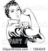 Vector Rosie the Riveter Clipart by Dennis Holmes Designs
