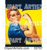Vector Rosie the Riveter Clipart by JVPD