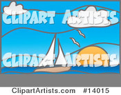 Vector Sailboat Clipart by Rasmussen Images