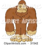 Vector Sasquatch Clipart by PlatyPlus Art