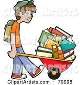 Vector School Boy Clipart by Jtoons