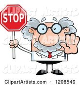 Vector Scientist Clipart by Hit Toon