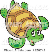 Vector Sea Turtle Clipart by Visekart
