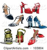 Vector Shoes Clipart by Leonid