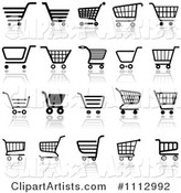 Vector Shopping Cart Clipart by Dero