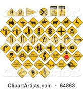 Vector Signs Clipart by J Whitt