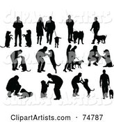 Vector Silhouettes Clipart by Leonid