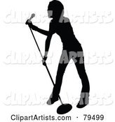 Vector Singer Clipart by Leonid