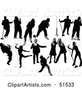 Vector Singers Clipart by Leonid