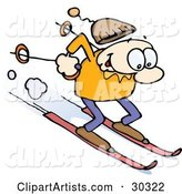 Vector Skiing Clipart by Gnurf