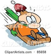 Vector Sledding Clipart by Gnurf