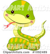 Vector Snake Clipart by Pushkin
