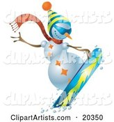 Vector Snowman Clipart by Tonis Pan