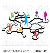 Vector Social Network Clipart by Arena Creative