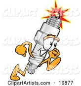 Vector Spark Plug Character Clipart by Toons4Biz
