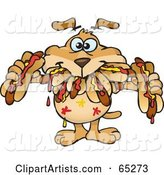 Vector Sparkey Dog Clipart by Dennis Holmes Designs