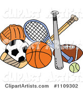 Vector Sports Clipart by LaffToon