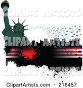 Vector Statue of Liberty Clipart by Leonid