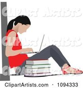 Vector Student Clipart by Leonid