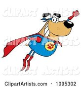 Vector Super Dog Clipart by Hit Toon