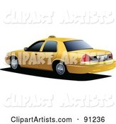 Vector Taxi Clipart by Leonid