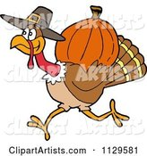 Vector Thanksgiving Clipart by LaffToon