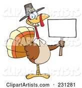 Vector Thanksgiving Turkey Clipart by Hit Toon