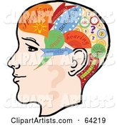Vector Thoughts Clipart by Eugene