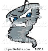 Vector Tornado Character Clipart by Toons4Biz