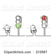 Vector Traffic Light Clipart by NL Shop