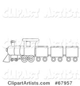 Vector Train Clipart by Rogue Design and Image