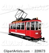 Vector Tram Clipart by Leonid