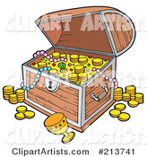 Vector Treasure Chest Clipart by Visekart