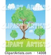 Vector Tree House Clipart by Rasmussen Images