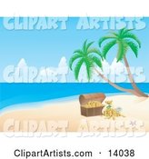 Vector Tropical Beach Clipart by Rasmussen Images