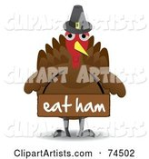 Vector Turkey Clipart by Mheld