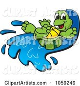 Vector Turtle Clipart by Toons4Biz
