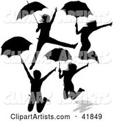 Vector Umbrella Clipart by Dero