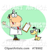 Vector Veterinarian Clipart by Hit Toon